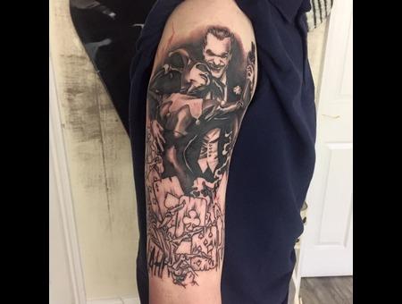 Batman Sleeve In Progress Black Grey Arm