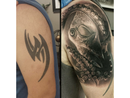 Cover Up  Black And Grey Black Grey Arm
