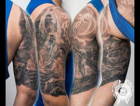 Angel Unreal Tattoo Fantasy Best Black Grey