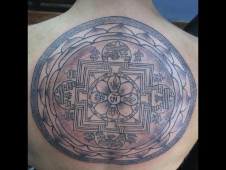 Mandala Black White