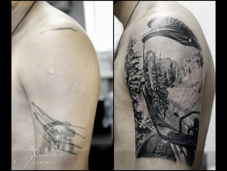 Cover  Coverup  Skiing  Mask  Snow  Forest Black Grey Shoulder