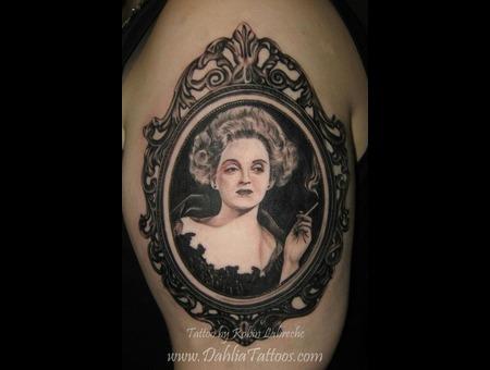 Betty Davis  Black & Grey  Victorian  Frame  Portrait Black White