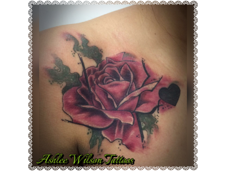Watercolor  Rose Color Chest