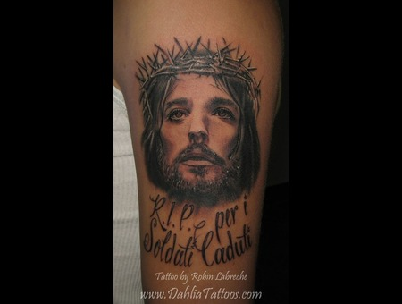 Jesus  Portrait  Black & Grey  Realism Black White