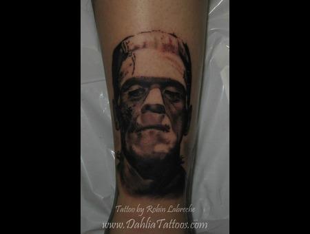 Black & Grey  Realism  Frankenstein  Portrait Black White