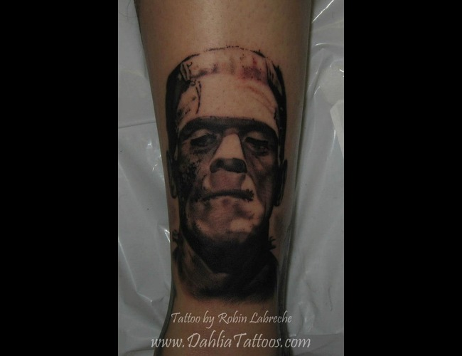 Black & Grey  Realism  Frankenstein  Portrait Black White