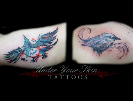 Watercolor Birds Color Shoulder