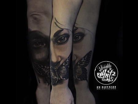Blackandgrey  Dark  Darkart  Butterfly Black Grey Forearm