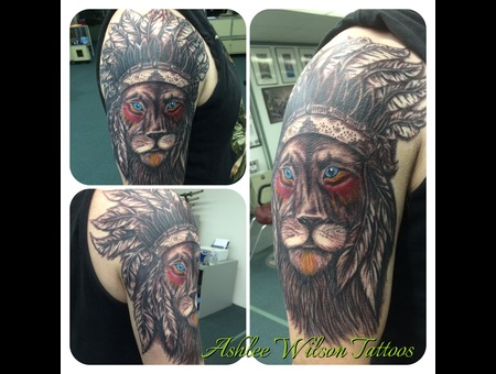 Lion Tattoo  Black & Grey  Lion Half Sleeve  Black Grey Arm