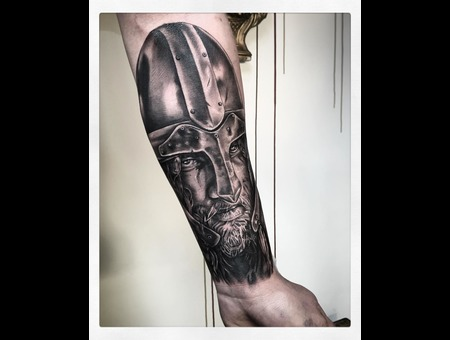 Vikings Tattoo  Black Grey Forearm