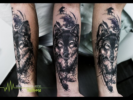Abstract  Wolf  Trash  Sketch  Scribble  Black  Blackandgrey Black Grey Arm