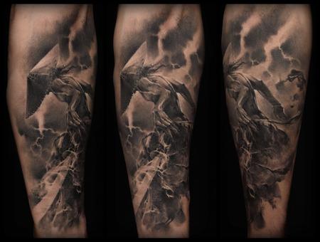 Samurai Black Grey Forearm