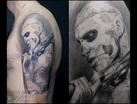 Zombieboy  47ronin  Rickgenest  Healed  Healedtattoo Black Grey Shoulder