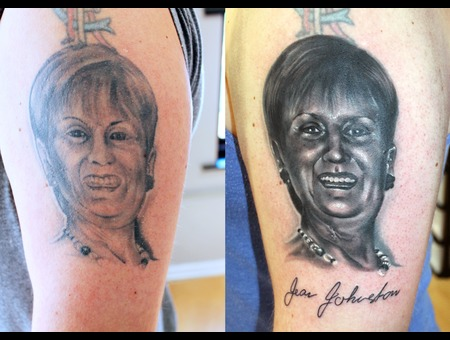 Cover Up  Rework  Portrait Black Grey Arm