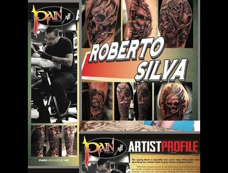 Pain Magazine Featured. Robert Silva Pain Magazine Featured Black Grey