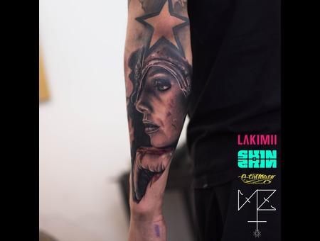 Valkyrie Black Grey Forearm