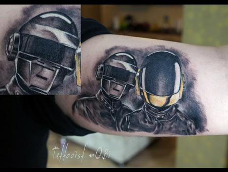 Music Daftpunk Daft Helmet Favorite Group Singers Black Grey Arm