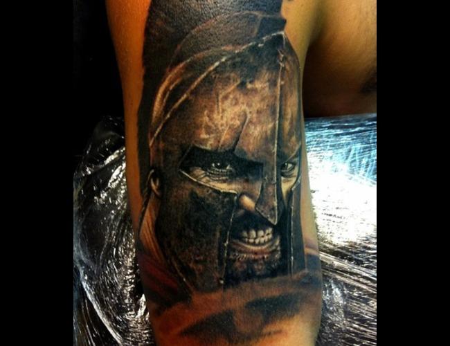 Warrior  Spartan Black White