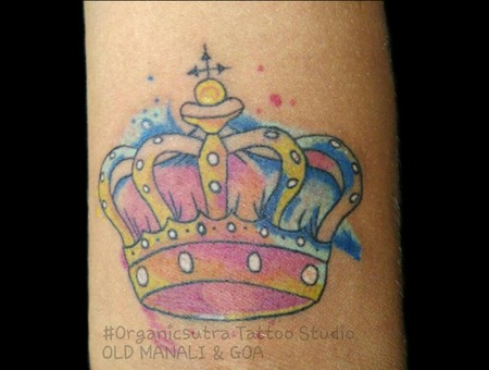Crown  Watercolor Color Forearm