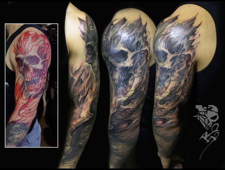 Cover  Freehand Black Grey Arm