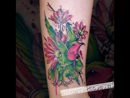 Tattoo  Bird  Art Color Arm