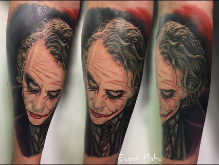 Tattoo  Realistic  Joker  Art Color Forearm