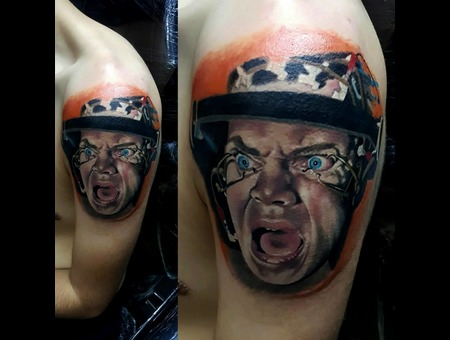 A Clockwork Orange  Portrait  Film Character  Movie Color Arm