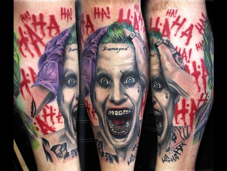 Suicide Squad  Joker  Color Lower Leg