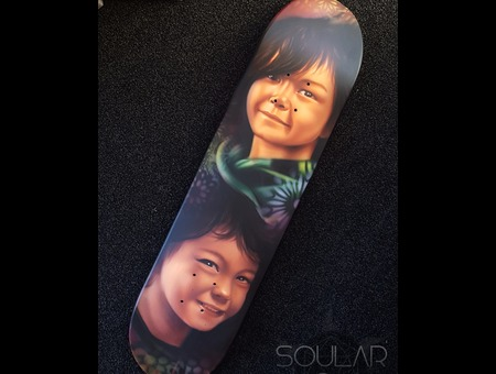 Mytoos Artwork  Airbrushed Skateboard Deck