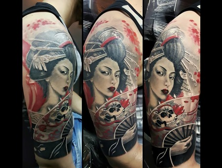 Geisha  Trash Polka  Custom Color Arm