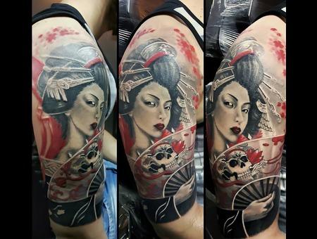 Geisha  Trash Polka  Custom Color Arm