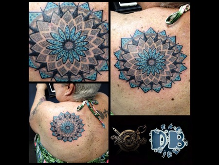 Mandala  Dotwork Color Back