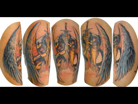 Angel  Angel With Sword  Hyper Colour  Detail Color Forearm