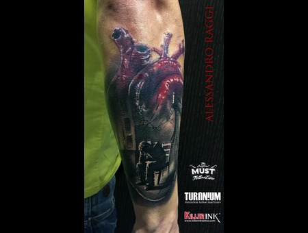 Heart  Realism   Color Forearm