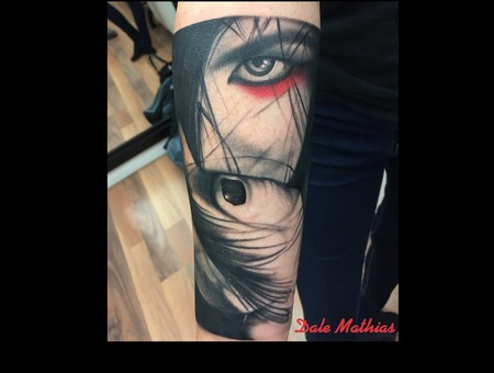 Realism  Portrait   Black Grey Forearm