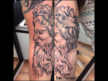 Sleeve  Sleeve In Progress  Poseidon  Realism  Portrait Black Grey Arm