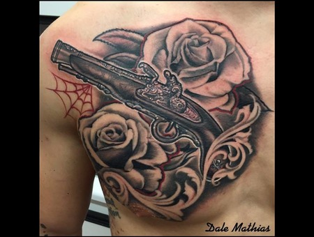 Guns  Roses  Realism   Black Grey Chest