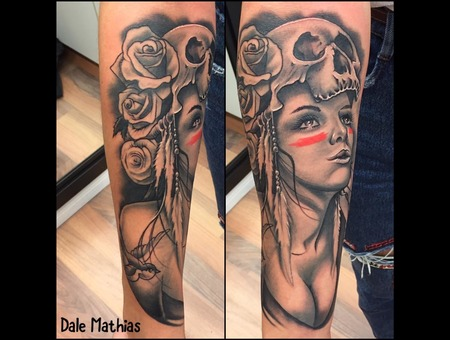 David Garcia  Black And Grey  Realism  Portrait  Sleeve Black Grey Arm