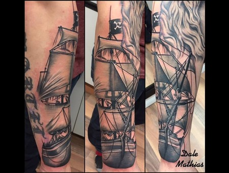 Sleeve  Ship  Realism  Black And Grey Black Grey Arm