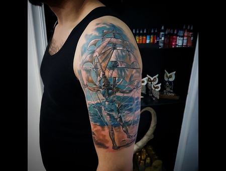 Salvador Dali Art Color Shoulder