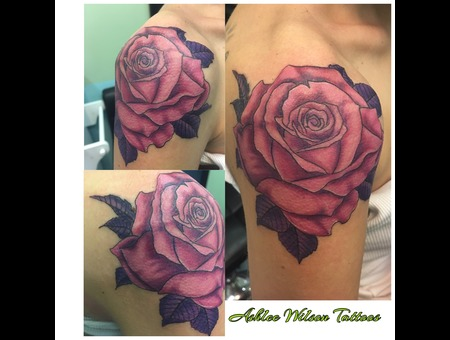 Rose Tattoo  Color Tattoo  Surrealism Tattoo Color Arm