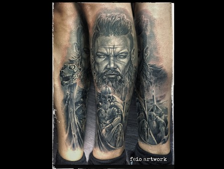 Vikings Black Grey Lower Leg