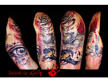 Eye  Realism  Roses  Clock  Time  Bird Color Arm