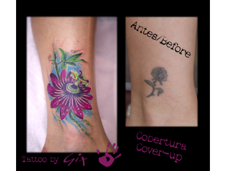 Cover Up  Flower  Realistic  Passionflower Color Lower Leg