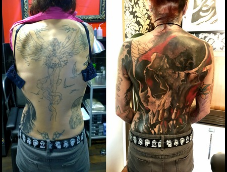 Cover Up Skull Color Back