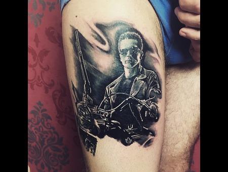Terminator Black Grey Thigh
