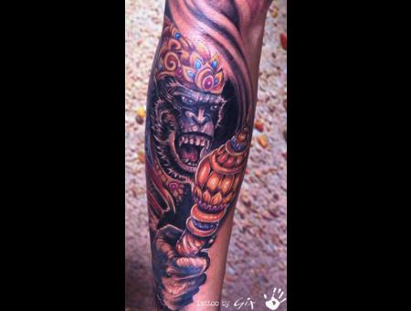 Hanuman  Monkey God Color Forearm