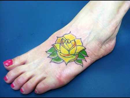 Rose  Flower  Foot Color