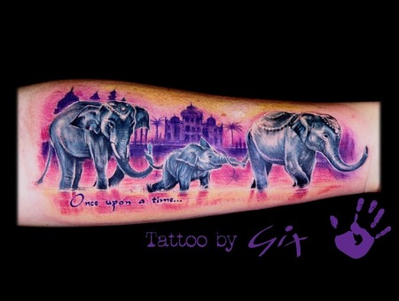 Elephants  India  Taj Mahal  Giuliano  Manufactum  Tenerife Color Forearm