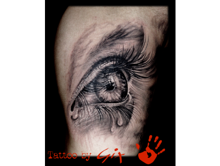 Eye  Realism  Tears  Giuliano  Manufactum  Tenerife Black Grey Arm